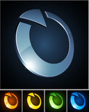 Color vibrant emblems. Royalty Free Stock Image