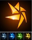 Color vibrant emblems. Vector illustration of star shiny symbols Stock Photography