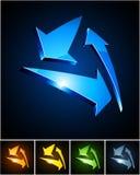Color vibrant emblems. Stock Image