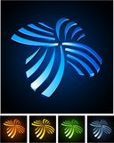 Color vibrant emblems. Royalty Free Stock Images