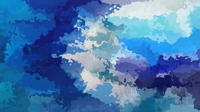 Color video inconsútil manchado animado abstracto de la oscuridad del lazo del fondo, medio y azul claro metrajes