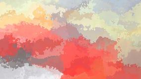 Color video manchado animado abstracto de las rosas fuertes, del rojo, de la naranja, gris y amarillo del lazo inconsútil del fon almacen de video