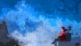 color video manchado animado abstracto del azul de cielo del lazo inconsútil del fondo con las manchas rojas y grises sangrientas almacen de metraje de vídeo