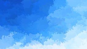 Color video manchado animado abstracto del cielo azul del lazo inconsútil del fondo almacen de video