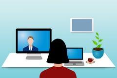 Color videoconferencing concept Stock Photos