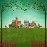 Color village royalty free illustration