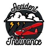 Color vintage accident insurance emblem Stock Photos
