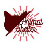 Color vintage animal shelter emblem Royalty Free Stock Image