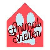 Color vintage animal shelter emblem Royalty Free Stock Photo