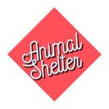 Color vintage animal shelter emblem Royalty Free Stock Images