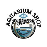 Color vintage aquarium shop emblem. Fish concept icon. Vector illustration, EPS 10 Royalty Free Stock Photography