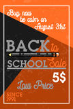 Color vintage back to school sale banner Stock Images