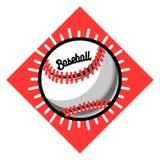 Color vintage baseball emblem Stock Image