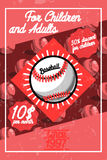 Color vintage baseball poster Royalty Free Stock Image