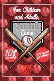 Color vintage baseball poster Stock Image