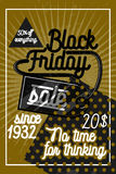 Color vintage black friday sale poster Royalty Free Stock Photo