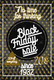 Color vintage black friday sale poster Royalty Free Stock Photos