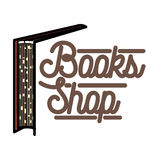 Color vintage books shop emblem Stock Photography