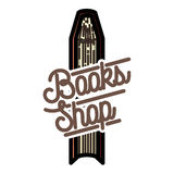 Color vintage books shop emblem Stock Photos