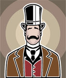 Color Vintage Boss vector art Royalty Free Stock Photography