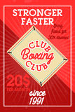 Color vintage boxing club banner Stock Photos