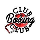 Color vintage boxing club emblem Stock Photography