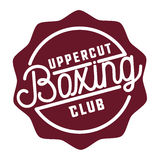 Color vintage Boxing emblem. Boxing logo template. Boxing club logotype. Boxing emblem, label, badge, t-shirt design, boxing fight theme Royalty Free Stock Photography