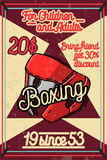 Color vintage Boxing poster. Boxing club design. Boxing fight theme Royalty Free Stock Image