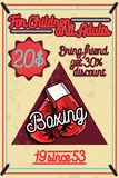 Color vintage Boxing poster. Boxing club design. Boxing fight theme Stock Images