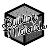 Color vintage building materials shop emblem Royalty Free Stock Photos