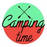 Color vintage Camping emblem Stock Images