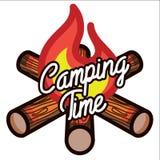Color vintage Camping emblem Stock Image