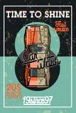 Color vintage car wash banner Stock Photo