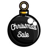 Color vintage Christmas sale emblem. On white background. Vector illustration, EPS 10 vector illustration