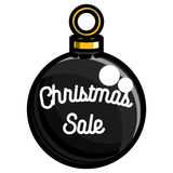 Color vintage Christmas sale emblem. On white background. Vector illustration, EPS 10 Royalty Free Stock Image