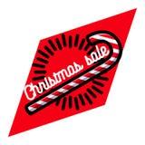 Color vintage Christmas sale emblem. On white background. Vector illustration, EPS 10 royalty free illustration