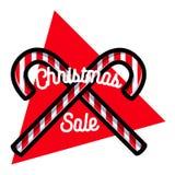 Color vintage Christmas sale emblem. On white background. Vector illustration, EPS 10 Stock Photo