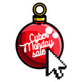 Color vintage cyber monday emblem Royalty Free Stock Image