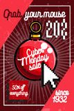 Color vintage cyber monday poster Royalty Free Stock Image