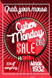 Color vintage cyber monday poster Royalty Free Stock Photos