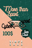 Color vintage cyber sport banner Stock Photo