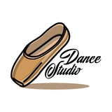 Color vintage dance studio emblem. Logo or label. Dancing icon. Modern dance Stock Images