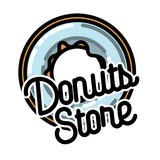 Color vintage donuts store emblem Royalty Free Stock Photos