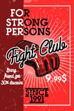 Color vintage fight club banner Stock Photography