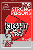 Color vintage fight club banner Royalty Free Stock Photography