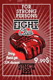 Color vintage fight club banner Stock Images