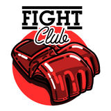 Color vintage fight club emblem Royalty Free Stock Photo