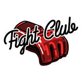 Color vintage fight club emblem Stock Photography