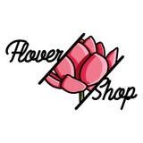 Color vintage flower shop emblem Stock Images
