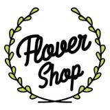 Color vintage flower shop emblem Stock Photos